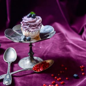 Blueberry & Vanilla Cupcake